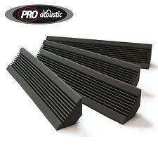 4x AFBT200 Pro Acoustic Foam Compact Bass Traps ( Smaller  Home Studio Size )