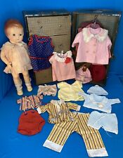 New ListingVintage 1930s Effanbee Patsy Ann 18� Composition Doll W Trunk Clothing Lot