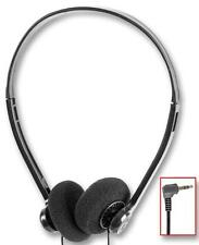 STEREO HEADPHONES with 90° Right Angled 3.5mm JACK - LONG 3 metre Lead