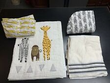 Crate and Kids Savanna Safari Nursery Bedding Set Quilt Skirt Baby Boy Girl