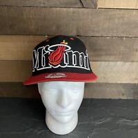 New Era Miami Heat Hardwood Classics 9Fifty Black and Red Snapback Hat Cap
