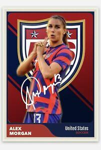 Alex Morgan USWNT Soccer USA Olympics Handmade Art Custom Card RP Autograph