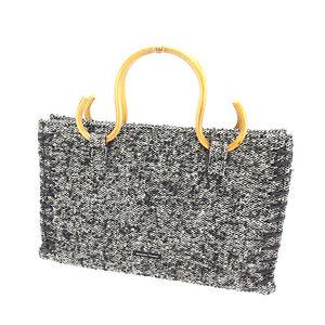 Samantha Thavasa Tote bag White Black Woman Authentic Used Y5794