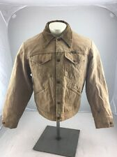 Vintage Wrangler Blue Bell Chore Barn Coat Wool Lining Mans Jacket Work Brown 44