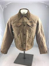 Vintage Wrangler Blue Bell Chore Barn Coat Wool Lining Mans Jacket Work Brown 44