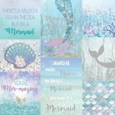 Mermazing Mermaids Childrens Girls Ice Blue Teal Silver Glitter Wallpaper