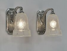 HETTIER & VINCENT : pair of French 1930 art deco wall sconces  #2... lamp France