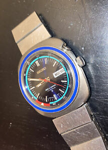 Vintage SEIKO 4006-6037 BLUE DIAL 17J BELL - MATIC ALARM Watch Day&Date- WORKING