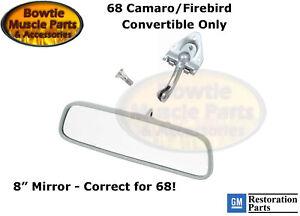"68 CAMARO FIREBIRD CONVERTIBLE INNER REAR VIEW MIRROR KIT 8"" 1968 F BODY"