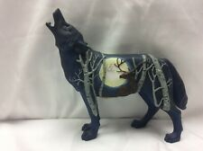 Call of the Wolf Birch And Buck Wolf 2005 #14122 Westland Giftware Figurine
