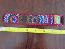 GLORIOUS Native American Beaded Watchband !