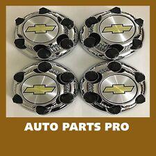 "4pcs SET 2000-13 Chevy 1500 Truck Van 16"" 17"" 6 LUG Chrome WHEEL Center Caps"