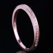 Sale Solid 14K Rose Gold Genunine Diamond Jewelry Band Anniversary Wedding Ring
