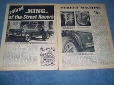 "1966 Nova Vintage L-88 Drag Car Article ""Retired -King- of the Street Racers"""