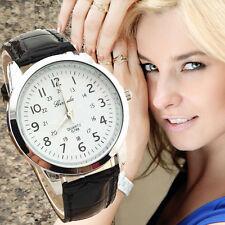 Elegant Geneva Men Watch Women Analog Quartz Sports Leather Strap Wrist Watches