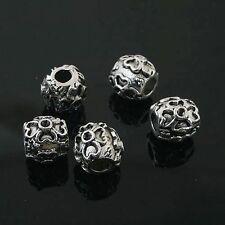 6pcs Tibetan Silver flower spacer Beads Fit European charm  Bracelet  L0107