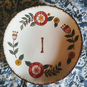 """Creative co-op letter """"I"""" initial monogrammed small plate jewelry dish"""