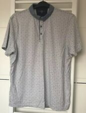 Tailor & Cutter Mens XL Chest White/grey Cotton Polo Shirt