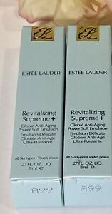 Estee Lauder Revitalizing Supreme+ Global Anti-Aging Power Emulsion .27x2= .54oz