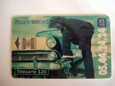 PHONECARD TELECARTE PEUGEOT ASSISTANCE FRENCH CAR