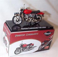 Norton Commando 750 1969 Classic Motorbike 1-24 Scale New in Case Atlas