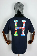 Huf Worldwide Skateboard T-Shirt Tee Global Trip Classic H French Navy in M