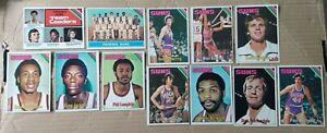 1975-76 Topps Phoenix Suns 11 Card Near Team Set- Westphal/Van Arsdale