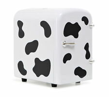 Milk Cow Spotted Mini Electric Cooler / Warmer 2-in-1 Cabinet 4L with Handle NEW