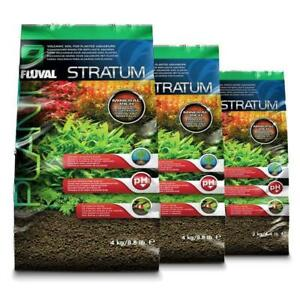 Fluval Plant and Shrimp Stratum Substrate Base Natural Safe Aquarium Fish Tank