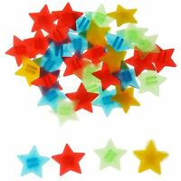 Bike Bicycle Wheel Spoke Star Beads Bicycle Spoke Beads Spoke Clips Plastic M8J5