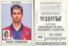 CALCIATORI PANINI 1989/90 *Figurina-sticker N.64*BOLOGNA-PAOLO STRINGARA*NEW