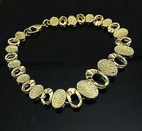 Luxus Damen Armband  Echt 750er Gold 18Karat gelbgold vergoldet B2012L