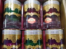 Moroccan tea glasses set of 6 cups handmade Free Shipping L@@@@@@@@@@@@@@@@@@@@K