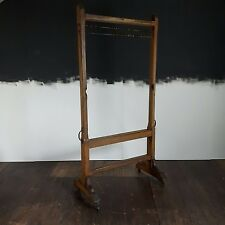 Vtg Antique Victorian School Freestanding Abacus Blackboard Frame Clothing Rail