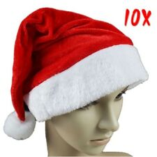 10x Soft Plush Ultra Thick Santa Claus Patry Christmas Cap Hat For Adult&Kid LOT