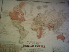 The Howard Vincent Map Of The British Empire 1924 21st Edition Facsimile Map