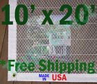 10'  x 20' Clear Poly Tarp Room Divider Patio Porch Enclosure Fumigation Curtain
