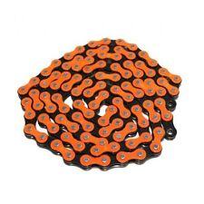 """KMC Z510HX 1/2"""" x 1/8"""" Single Speed Chain ,112 Link , Orange x Black"""