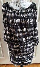 Michael Kors Summer Black & White Tie Dye Coer-up Size Women 20W