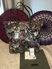 NWT-Valentino Rockstud Multi-color Camouflage Butterfly Printed Nylon Tote/Purse