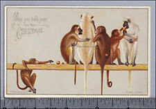 Hildesheimer Christmas Card Monkeys Play Greeting Card 269