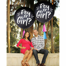 """OH BABY! Giant 36"""" Gender Reveal  Confetti Balloon Kit With Tassels Boy or Girl"""