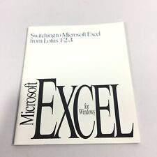Mirosoft Excel 1992 Switching From Lotus 1 2 3 Guide Vintage Windows