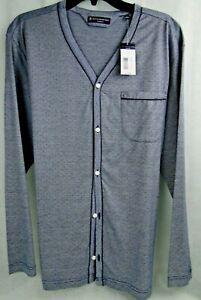 HSM - Hart Schaffner Marx Sleepwear L/S Night Shirt MSRP $125 NWT Nice! - LG