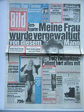 Bild Zeitung vom  3.11.1989, Alain Delon, Beate Uhse, Claudia Leistner