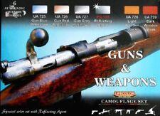 LIFECOLOR Guns Weapons Acrylic Model Paint Set 6 22ml Bottles FREE SHIP