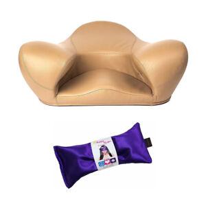Alexia  Meditation Seat, Latte Genuine Leather PLUS Free Gift Yoga Eye Pillow