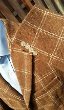 NEW J.CREW London Tan Windowpane Check Tweed Blazer Jacket Sport Coat Men M 40R