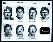 Vancouver Canucks LOT of 3 team issued 1977 Press Photos