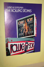 BALLY Rolling Stones pinball flyer brochure pamphlet BRAND NEW. Year 1980.